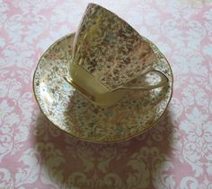 Vintage Tea Cup and Saucer English Bone China by MiladyLinden