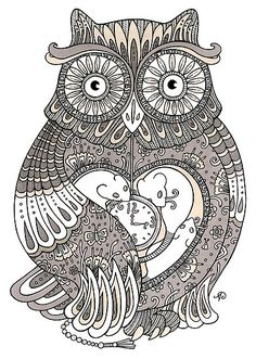 Owl print. #art #drawing #owl