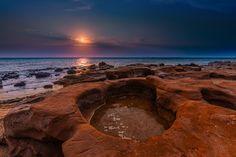 Bathtub at Sea - Rockpools on shore at Black rock, Melbourne, Australia Black Rock, Melbourne Australia, Art Projects, Sunrise, Bathtub, Sea, Explore, Water, Travel