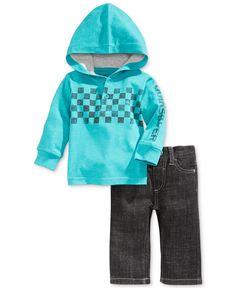 Quiksilver Baby Boys' 2-Piece Hoodie & Jeans Set
