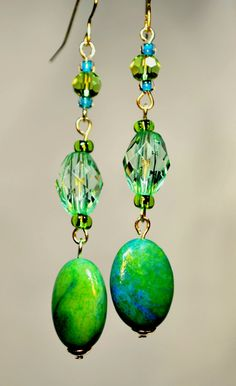 turquoise & green dangles