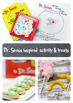 {Dr. Seuss inspired} activity & treats @mamamissblog #drseuss