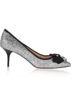 LUCY CHOI LONDON Marrakech embellished glitter-finished leather pumps £96.75 http://www.theoutnet.com/products/618988