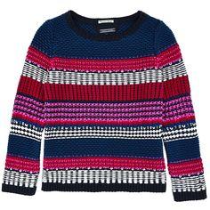 Tommy Hilfiger Striped loose stitch knit sweater Multicoloured - 77416   Melijoe.com