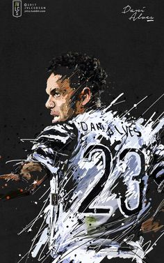 Dani Alves, Cool Art, Nice Art, Juventus Fc, Character Drawing, Football Players, Messi, Soccer, Art Posters
