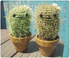 Amigurumi Cacti by Gleeful Things, via Flickr http://www.craftster.org/forum/index.php?topic=347472.0#axzz3AufcMgcJ