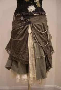 Awesome Skirt. I admire the cobbled-together-stylishly type look.