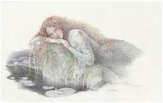 "Craft, Kinuko Y. ""Undine"" Original Drawing at Borsini-Burr Tarot, Fantasy Authors, Mermaids And Mermen, Art Institute Of Chicago, Mermaid Art, American Artists, Art History, Illustrators, Fantasy Art"