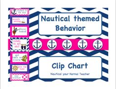 Pink and Blue nautical Behavior chart! perfect for my Nautical theme!