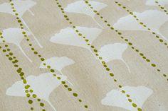 ginkgo in snow & olive by ink & spindle