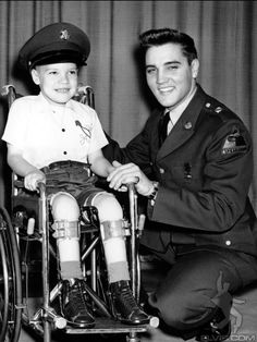 Elvis: photo shoot for March of Dimes; a charity Elvis cared about deeply)