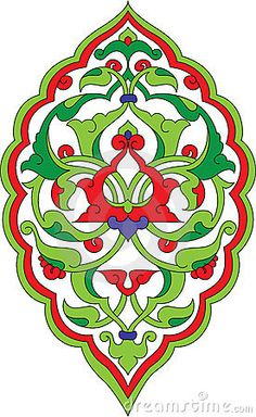 Ottoman rumi design by Murat Cokeker, via Dreamstime