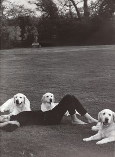 PHO: BRUCE WEBER (Shalom Harlow and dogs = automatic repin)