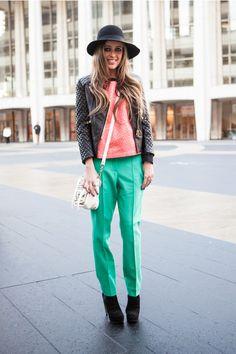 Street Style Inspiration- Minty Freshness #Spring #Fashion