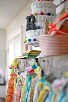 Colorful Book Themed Baby Shower via KarasPartyIdeas.com - THE place for ALL things PARTY! #planning #idea #cake #Girl #boy #decorations
