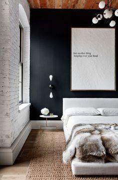 Серый - Лофт - Спальня - Проект - спальни