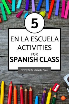 Are you introducing a Spanish student to school vocabulary? Your Spanish classes will love these la escuela activities and lesson plans! It's so much more engaging than a worksheet and gets them thinking about their own classes! Games, classroom displays, projects, and more! If you need a great lesson plan for la escuela in your secondary Spanish classroom, this is it! Middle school and high school students will love this interactive lesson! Click to see more! #spanishclass #laescuela Get To Know You Activities, Back To School Activities, Class Activities, Spanish Lesson Plans, Spanish Lessons, Spanish 1, Spanish Classroom, Teaching Spanish, Icebreaker Activities