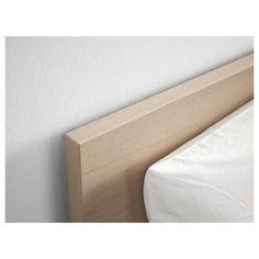 MALM Bed frame, high, w 2 storage boxes - white stained oak veneer, Luröy - IKEA Ikea Lit Malm, Cama Malm Ikea, Ikea Malm White, High Bed Frame, Malm Bed Frame, Under Bed Storage, Storage Boxes, Storage Spaces, Tv Storage
