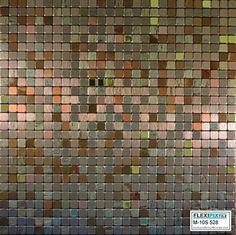 FLEXIPIXTILE, Modern Aluminum Mosaic Tile, Peel & Stick, Backsplash, Accent #M5 #NotApplicable