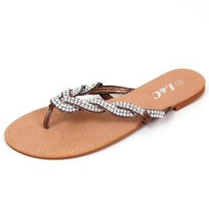 Amazon.com: Jones Woven Sparkle Strap Sandals By L&C. Thong Flip Flops in Black, White, Brown, Gold, Silver, Pink: Shoes  For the reception