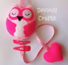 Woodland Owl Girls Hair Clip Holder - The Supermums Craft Fair