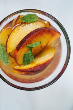 Peaches in Moscato // Not Without Salt