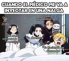 kimetsu no yaiba memes Demon Slayer, Slayer Anime, Otaku Anime, Manga Anime, Funny Comic Strips, Spanish Memes, Book Memes, Funny Bunnies, Anime Demon