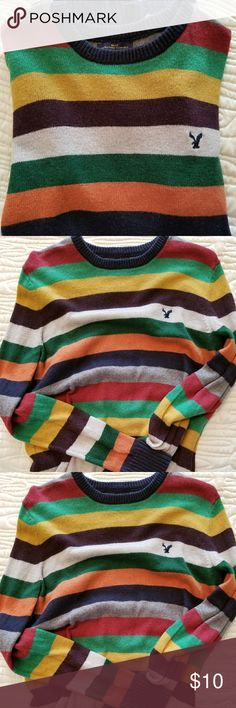 American Eagle Sweater American Eagle Athletic Fit machine washable multi colored sweater. Good used condition. American Eagle Outfitters Sweaters