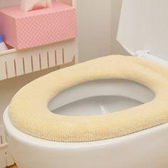 Warm Toilet Seat Cover Mat Cushion Warm Cute Cartoon Bathroom Toilet Seat Decor