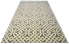 """A contemporary style hand tufted pure wool rug in light stainless steel grey and ivory white. Its has a pile depth of 15-18mm. Created using the """"Excelsior"""" design."""
