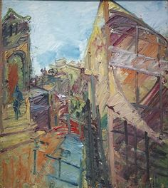 Frank Auerbach (b. 1931) To the Studios, 1983