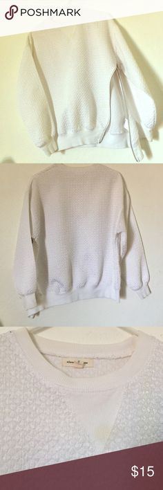 urban outfitters side zip textured crew neck besides a small stain in the front it's in good condition. stain can be dry cleaned. silence + noise Sweaters Crew & Scoop Necks