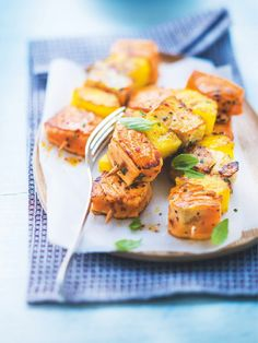Brochette #saumon Atlantique colin lieu et # ananas #Picard