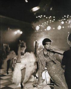 Carmen Dell'Orefice photographed by Richard Avedon for Harper's Bazaar.