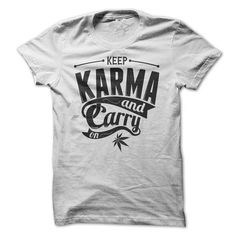 Keep Karma and Carry On - #floral tee #cool sweatshirt. GET IT NOW => https://www.sunfrog.com/LifeStyle/Keep-Karma-and-Carry-On.html?68278