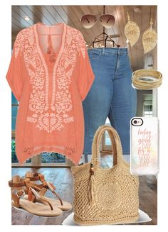 """""""Plus Size Casual Capri Jean Day"""" by hipbilly on Polyvore featuring NYDJ, UGG, Mat, Palm Beach Jewelry, Design Lab, Avenue, Ashley Stewart and Casetify"""