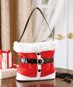 Holiday Handbag is a cute accessory for the Christmas season. Complete your outfit for that annual party with a soft purse that can hold your essenti Christmas Purse, Christmas Stockings, Christmas Holidays, Christmas Crafts, Christmas Ideas, Classy Christmas, Christmas Sewing, Thanksgiving Ideas, Holiday Ideas