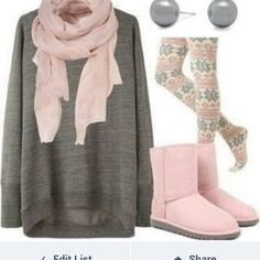 scarf pink, solid pink pink pants shoes classic shorts uggs sweater shirt oversized grey solid color tribal pattern jewels big pearl scarf pattern like the colors http://www.lrpvcgi.com   $89.99  cheap ugg boots, ugg shoes 2015, fashion winter shoes