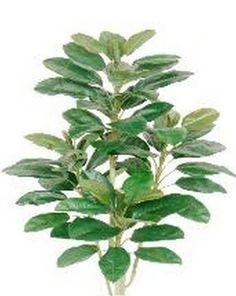 4/' RUBBER PALM ARTIFICIAL SILK TREE PLANT ARRANGEMENT TROPICAL BUSH TOPIARY TREE