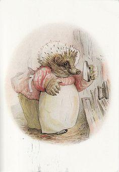 Beatrix Potter's Mrs Tiggywinkle.