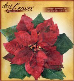 DECO LEAVES  Pointsettia  Food Safe Parchment by OneDayLongAgo, $10.50