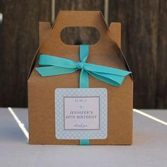 12 Metropolitan Design Personalized Mini Gable Boxes - ANY COLOR - wedding favors, party favors, baby shower favors, bridal shower favors. $18.00, via Etsy.