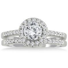 <li>Diamond bridal ring set</li><li>10k white gold jewelry</li><li><a href='http://www.overstock.com/downloads/pdf/2010_RingSizing.pdf'><span class='links'>Click here for ring sizing guide</span></a><br />