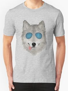 """""""Wild Animal with Blue Sun Glasses - V03"""" T-Shirts & Hoodies by Lidra 