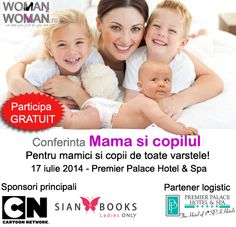 """Invitam toti parintii, bunicii, copiii, dar si persoanele interesate de parenting sa participe la conferinta """"Mama si copilul"""", un eveniment pentru toate varstele, organizat de Woman2Woman.ro. Evenimentul va avea loc Joi, 17 iulie 2014 in Bucuresti, la Premier Palace Hotel&Spa, sala Conference & Events Hall, incepand cu ora 9:30, pentru a discuta despre parenting, cresterea, …http://comangabriel.ro/eveniment-despre-dezvoltarea-si-educarea-copiilor-mama-si-copilul/"""