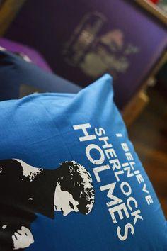 cushions cover I believe in Sherlock inches