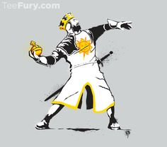 2 of our favorite things in 1 shirt: Banksy Monty Python 1-2-5 tee :)