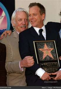 Kiefer and his father, Donald Sutherland