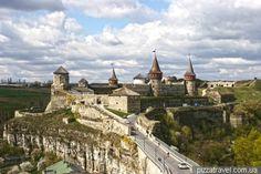 Кам`янець-Подільський, Вид на замок з оглядового майданчику
