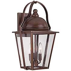 "Rivendale Court 19"" High Bronze Outdoor Wall Light"